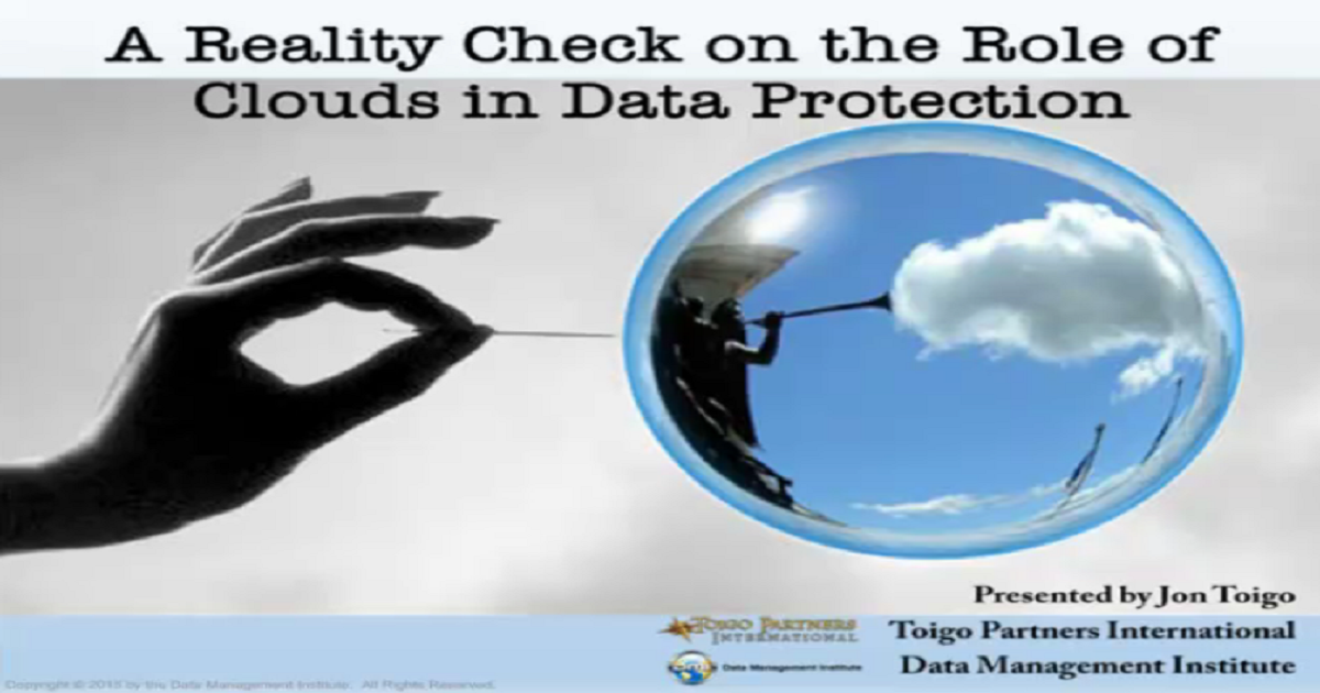 Define the role of the cloud in your data protection plan