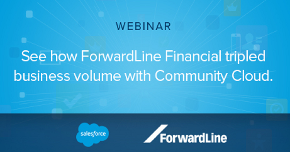 ForwardLine Financial tripled loan applications with Community Cloud