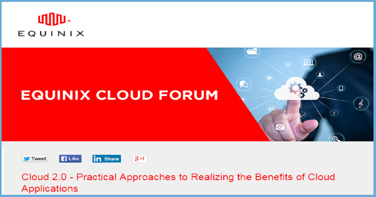 Cloud 2.0 - Practical Approaches to Realizing the Benefits of Cloud Applications.