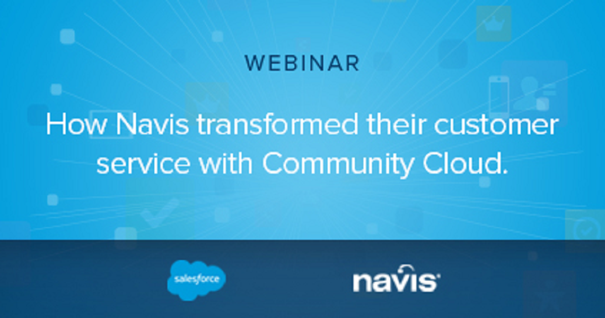 Navis transforms their customer service with Community Cloud