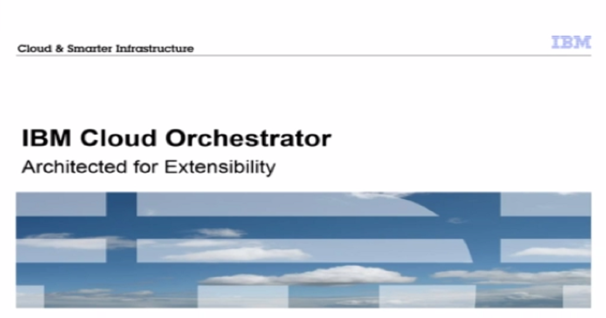 Cloud orchestration to simplify & accelerate service delivery