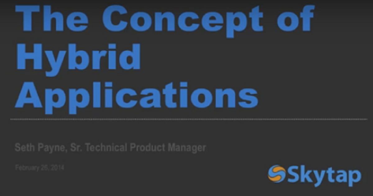 The Concept of Hybrid Applications