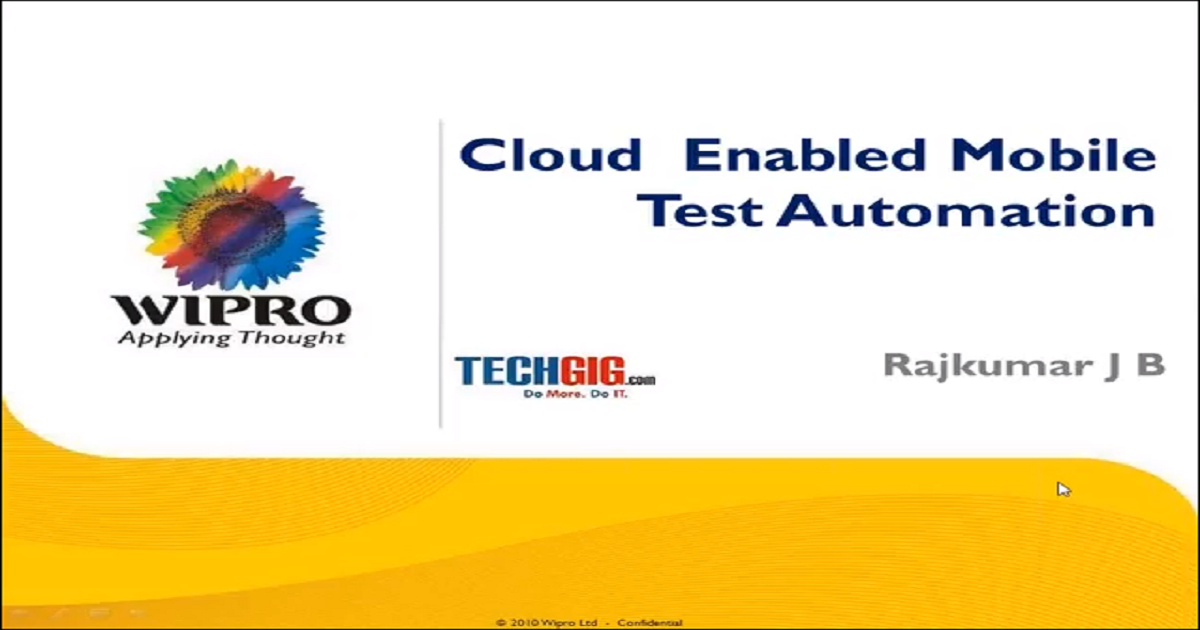 Cloud Enabled Mobile Test Automation