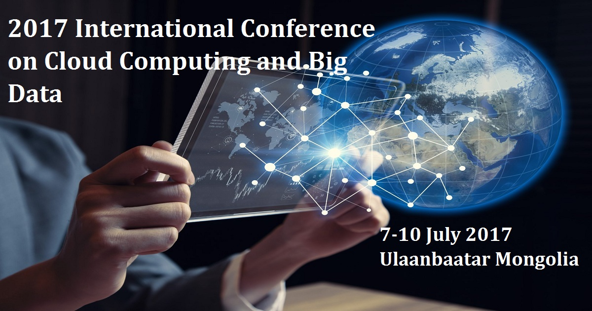 2017 International Conference on Cloud Computing and Big Data