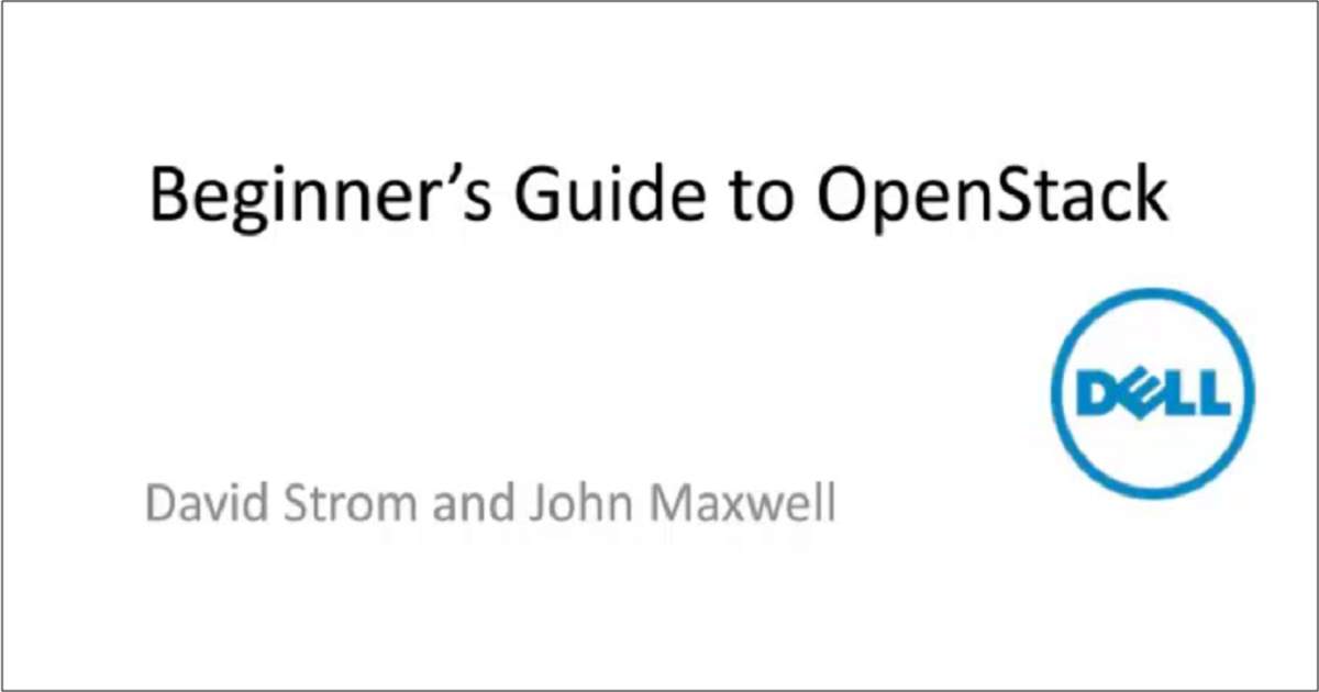 A Beginner's Guide to OpenStack