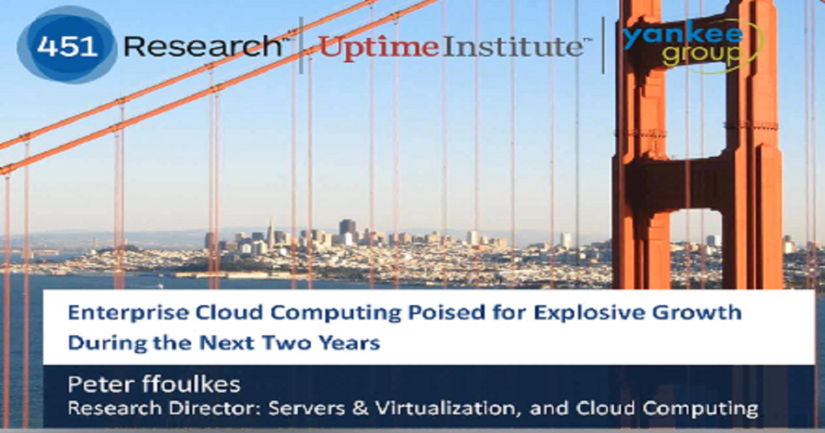 Enterprise Cloud Computing Poised for Explosive Growth