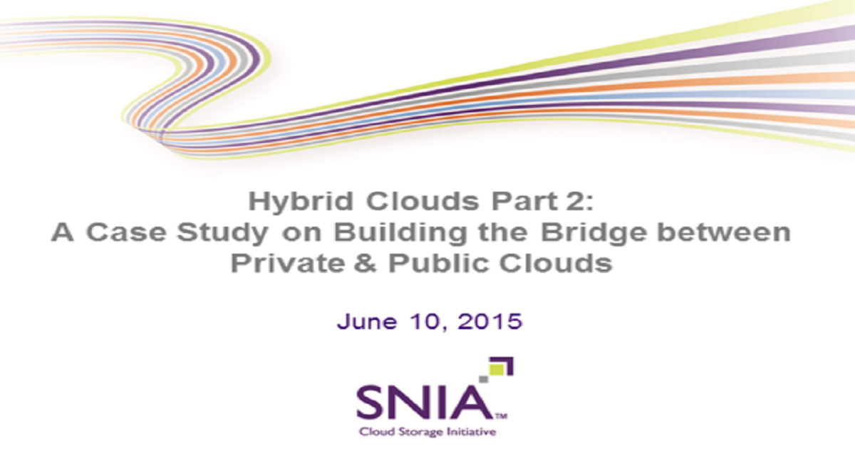 Hybrid Clouds Part 2: Case Study on Building the Bridge between Private & Public