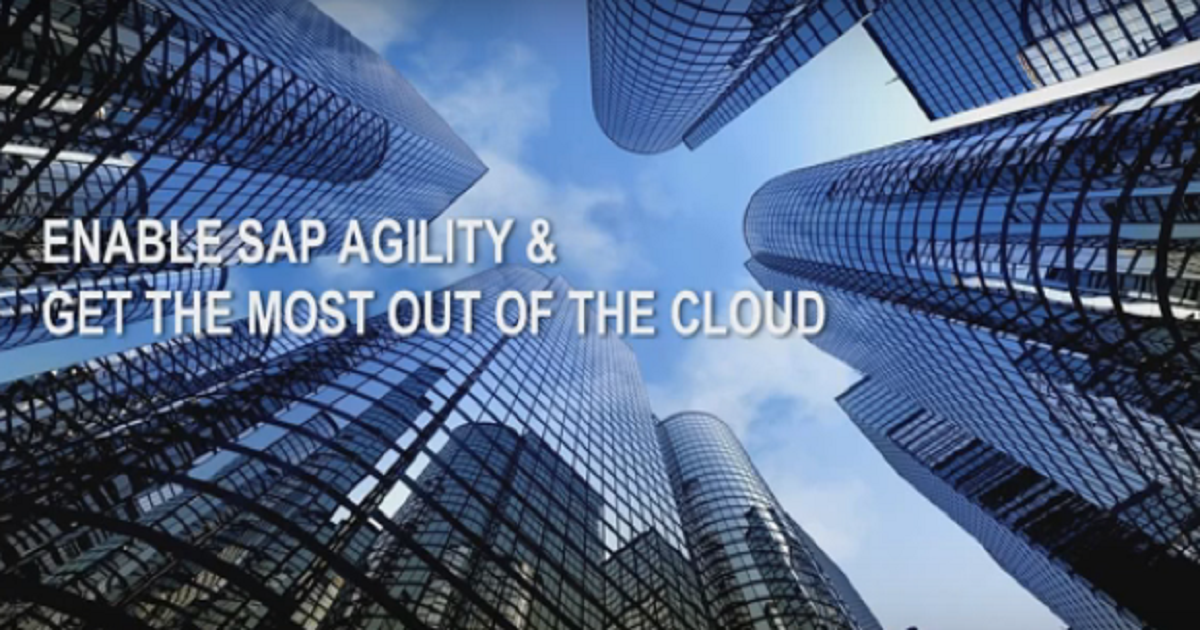 How to Enable SAP Agility and Get the Most Out of the Cloud