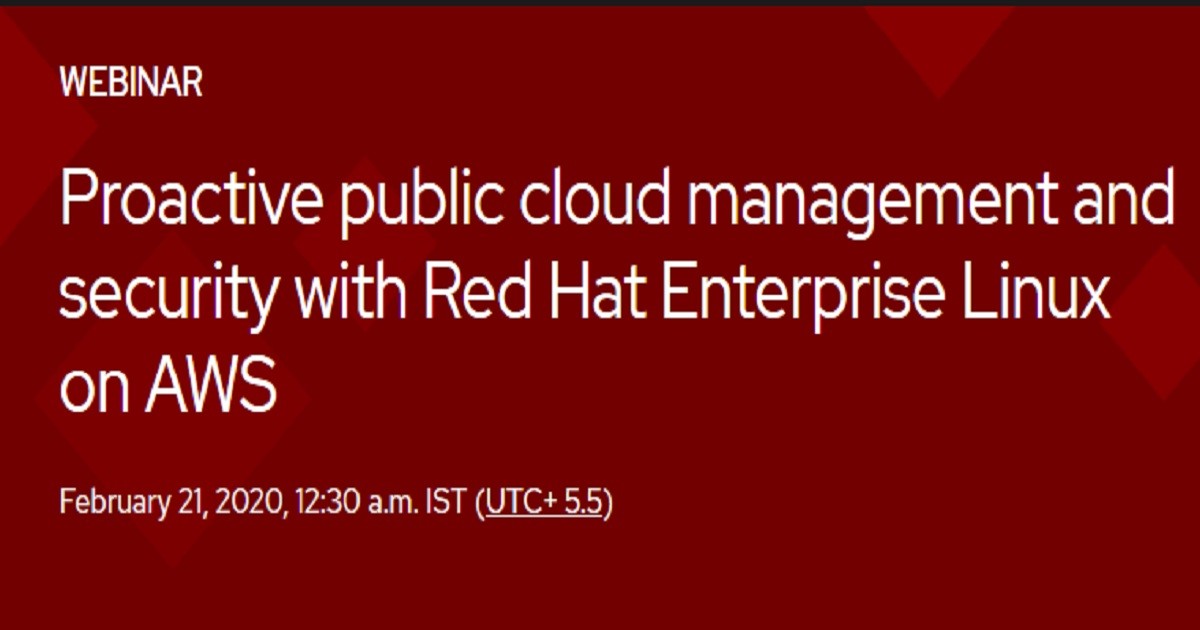 Proactive public cloud management and security with Red Hat Enterprise Linux on AWS