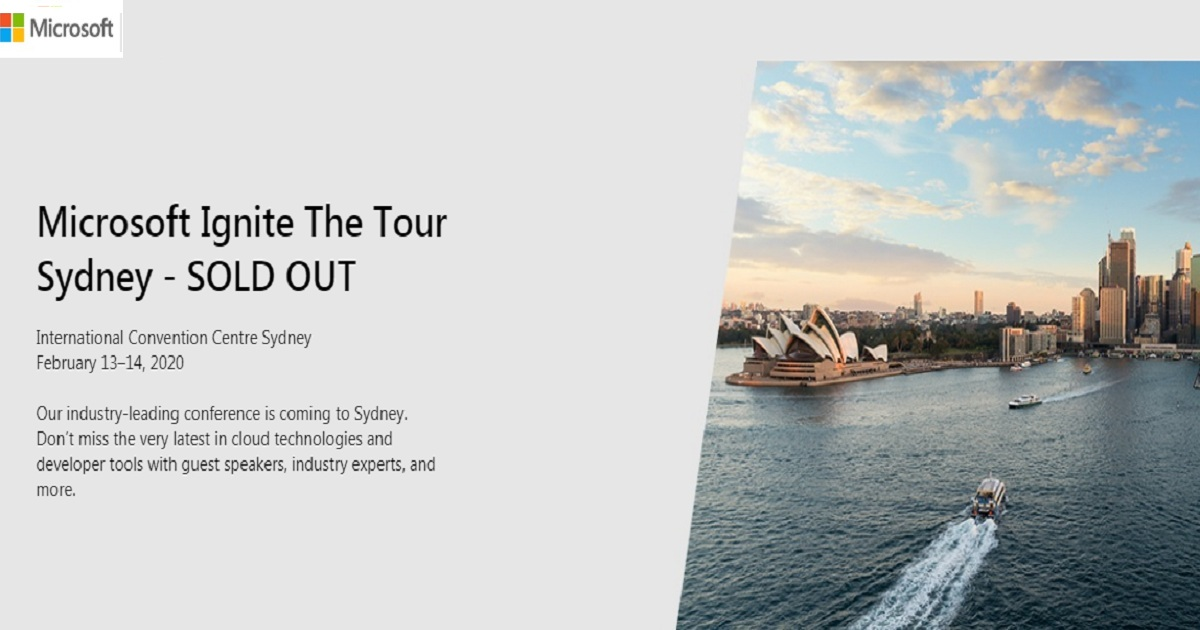 Microsoft Ignite The Tour Sydney
