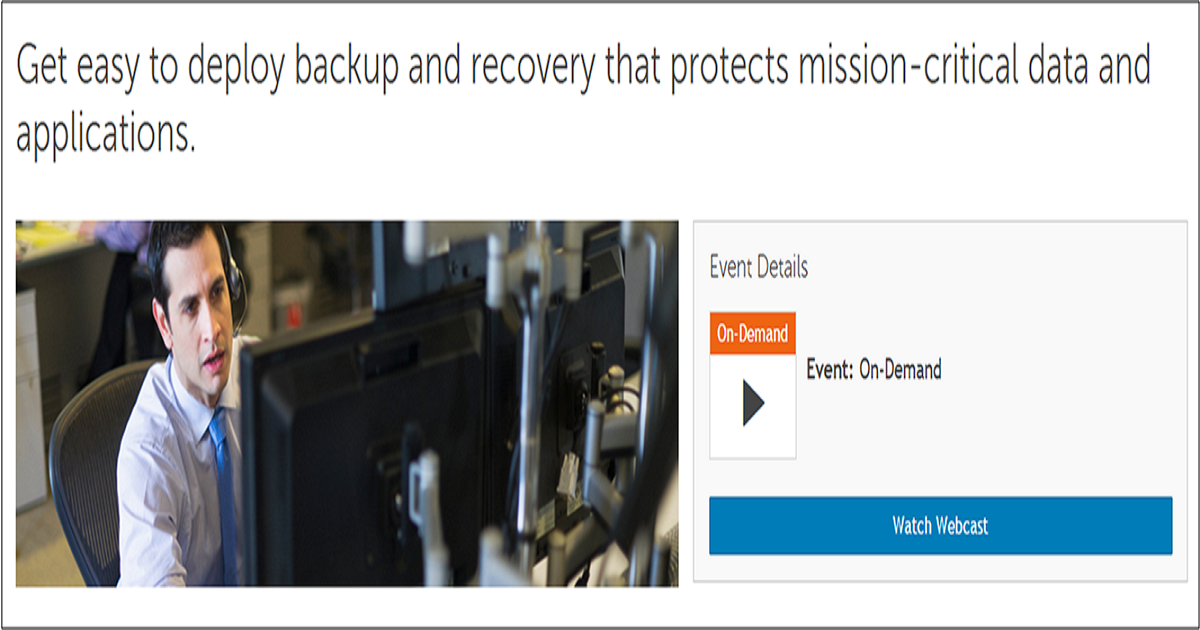 Get easy to deploy backup and recovery that protects mission-critical data and applications