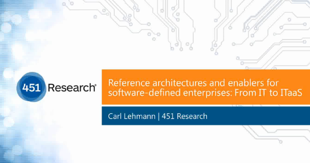 From IT to ITaaS: Reference Architectures and Enablers For Software-Defined Enterprises