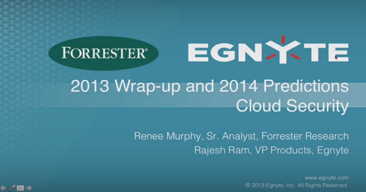 2014 Predictions for Cloud – Analyst Webinar with Forrester
