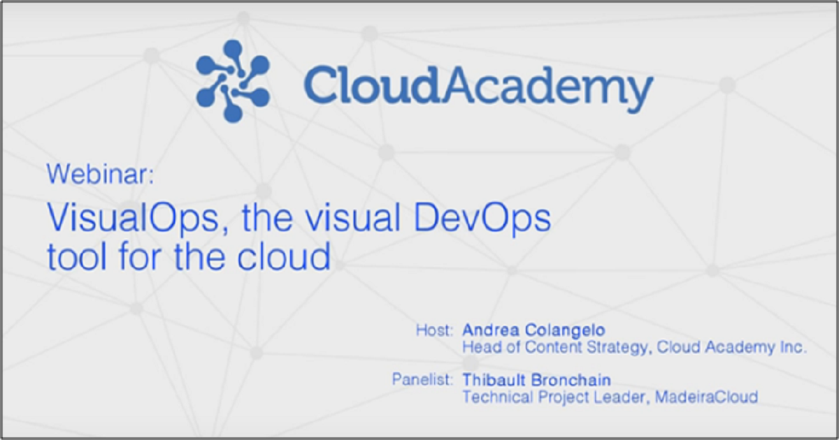 VisualOps: the visual DevOps tool for the cloud