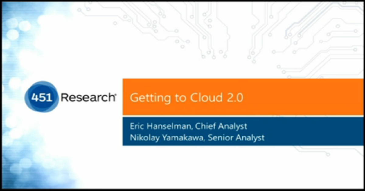 Getting to Cloud 2.0