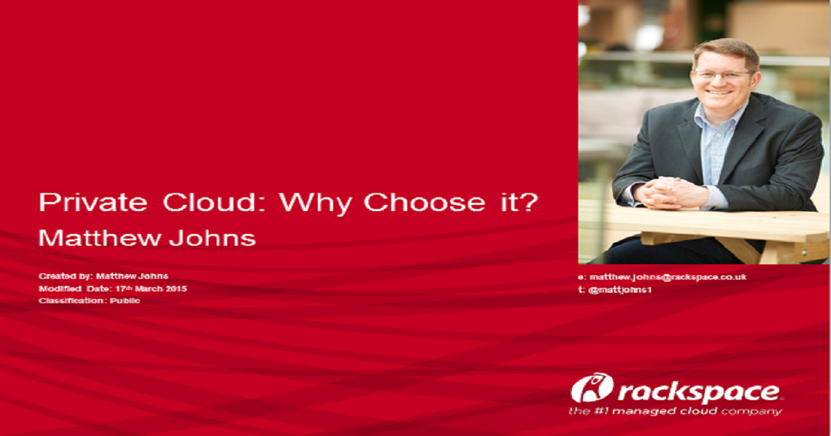 Private Cloud - Why Choose It?