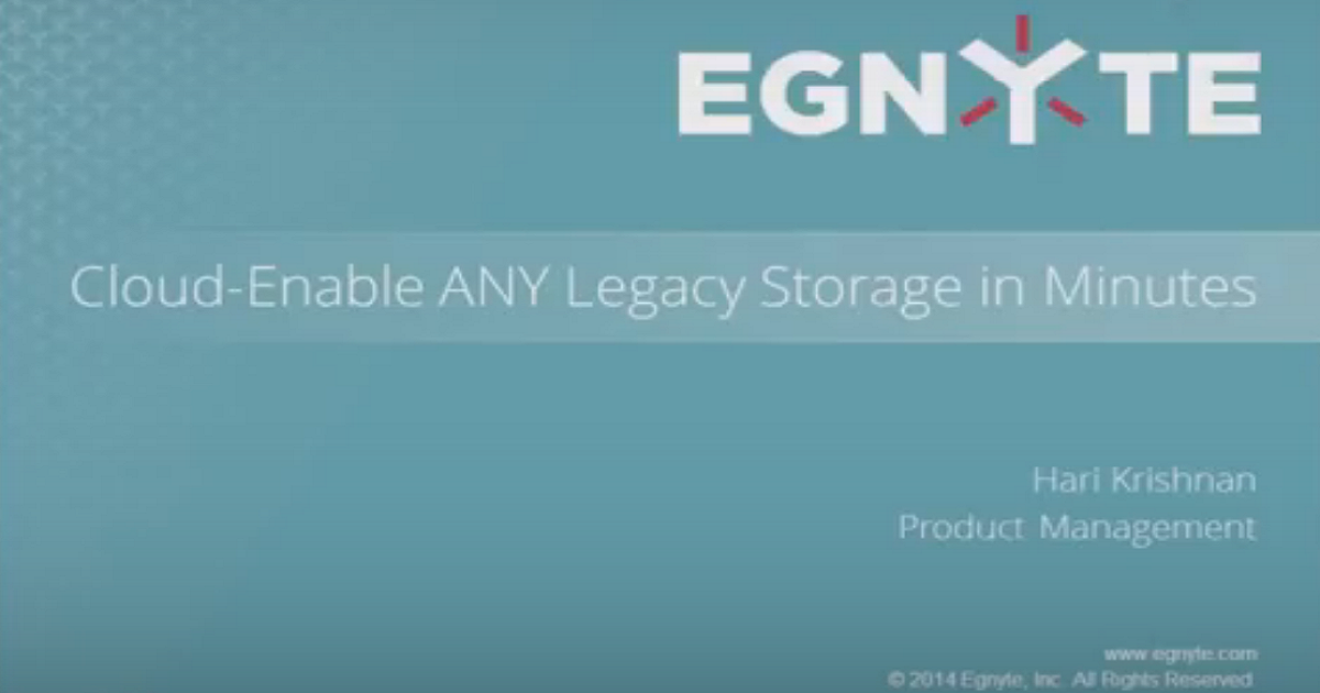 Cloud-Enable ANY Legacy Storage in Minutes