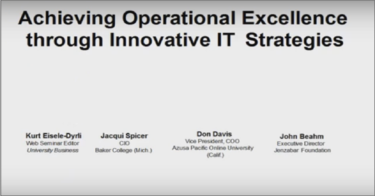 Achieving Operational Excellence through Innovative IT Strategies
