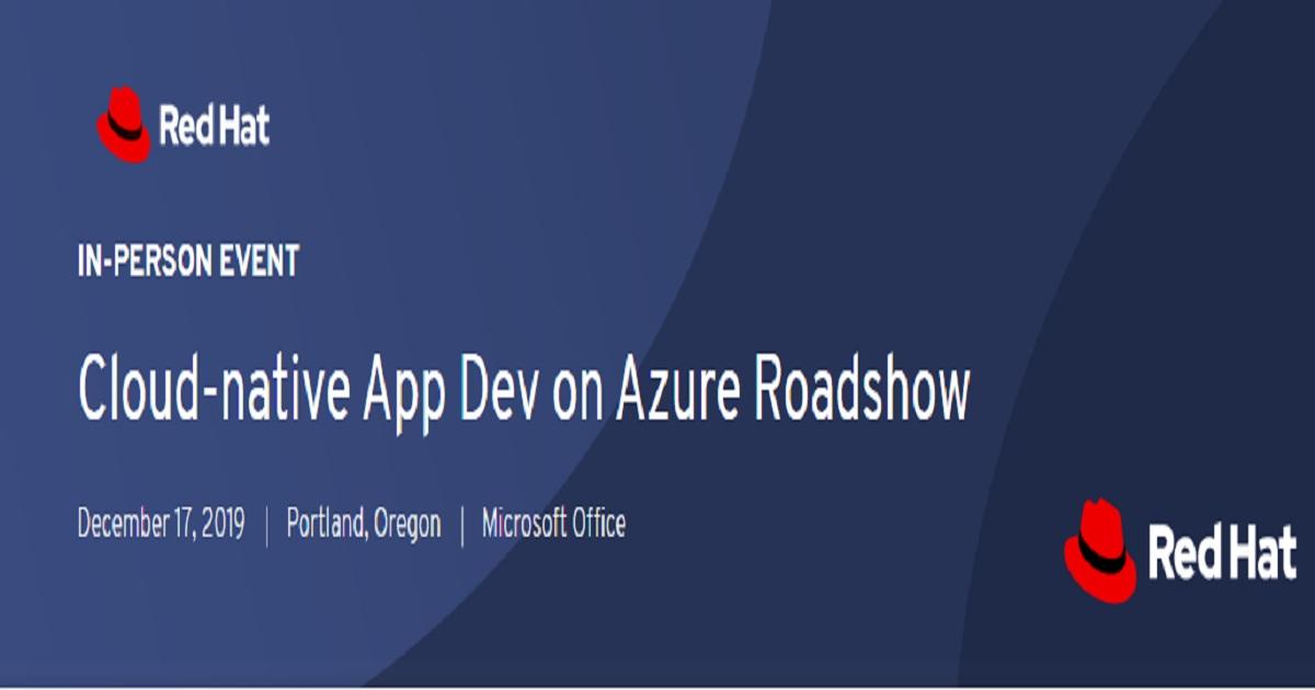 Cloud-native App Dev on Azure Roadshow