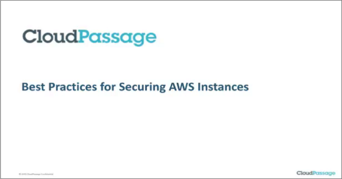 BEST PRACTICES FOR SECURING AWS INSTANCES