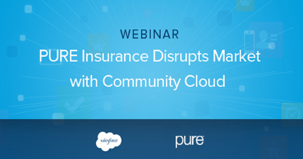 PURE insurance Disrupts Market with Community Cloud