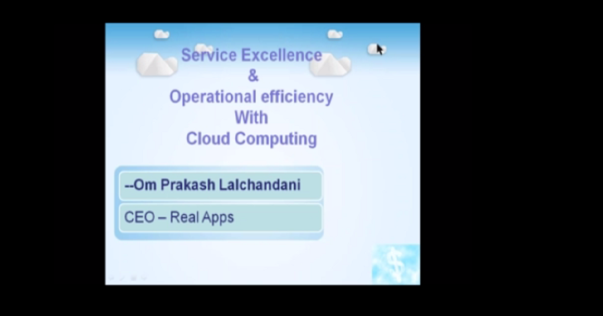 Service Excellence and Operational Efficiency with Cloud Computing