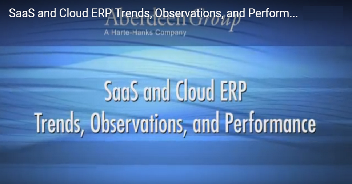 SaaS and Cloud ERP Trends, Observations, and Performance