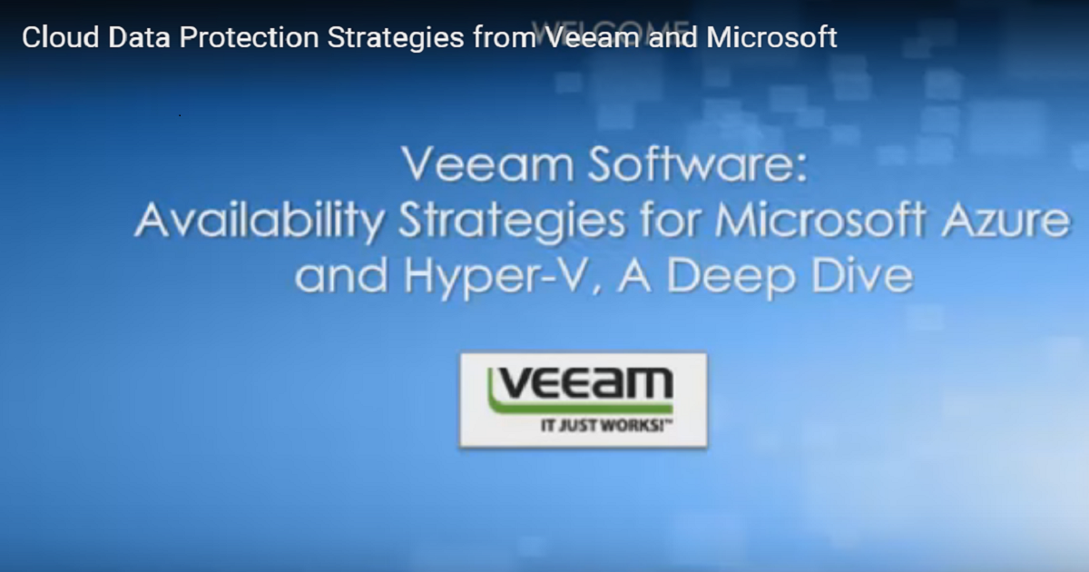 Cloud Data Protection Strategies from Veeam and Microsoft