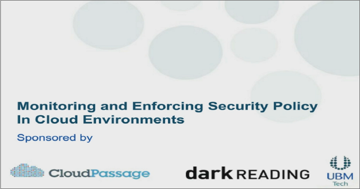 MONITORING AND ENFORCING SECURITY POLICY IN CLOUD ENVIRONMENTS