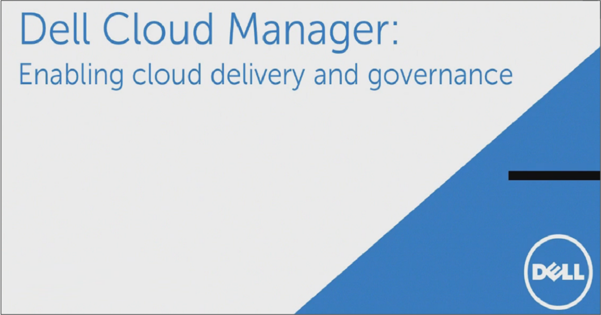 Enabling Cloud Delivery and Governance