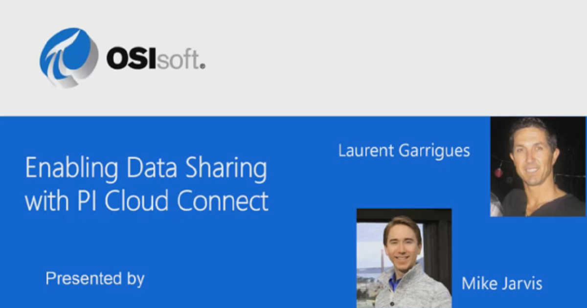 Enabling Sharing Data with PI Cloud Connect