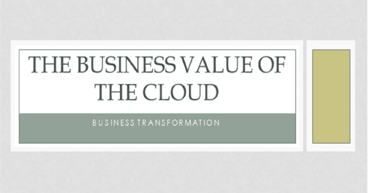 Hybrid Cloud: A cloud for every stage of the product lifecycle