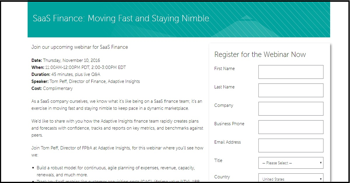 SaaS Finance: Moving Fast and Staying Nimble