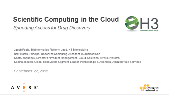 Scientific Computing in the Cloud: Speeding Access for Drug Discovery