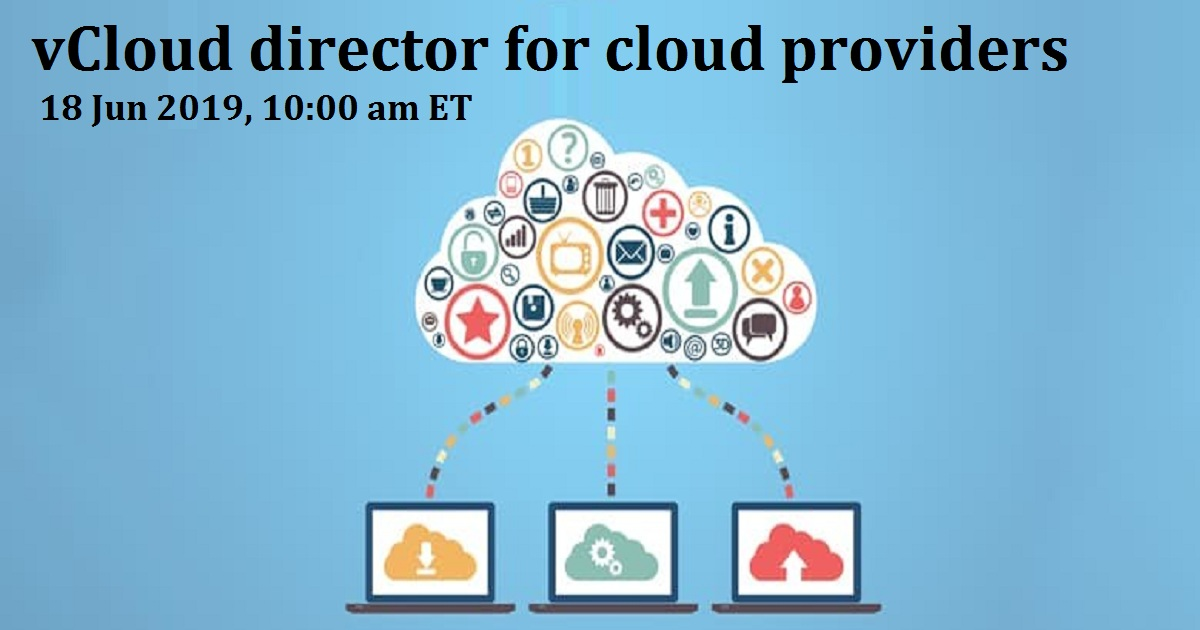 vCloud director for cloud providers