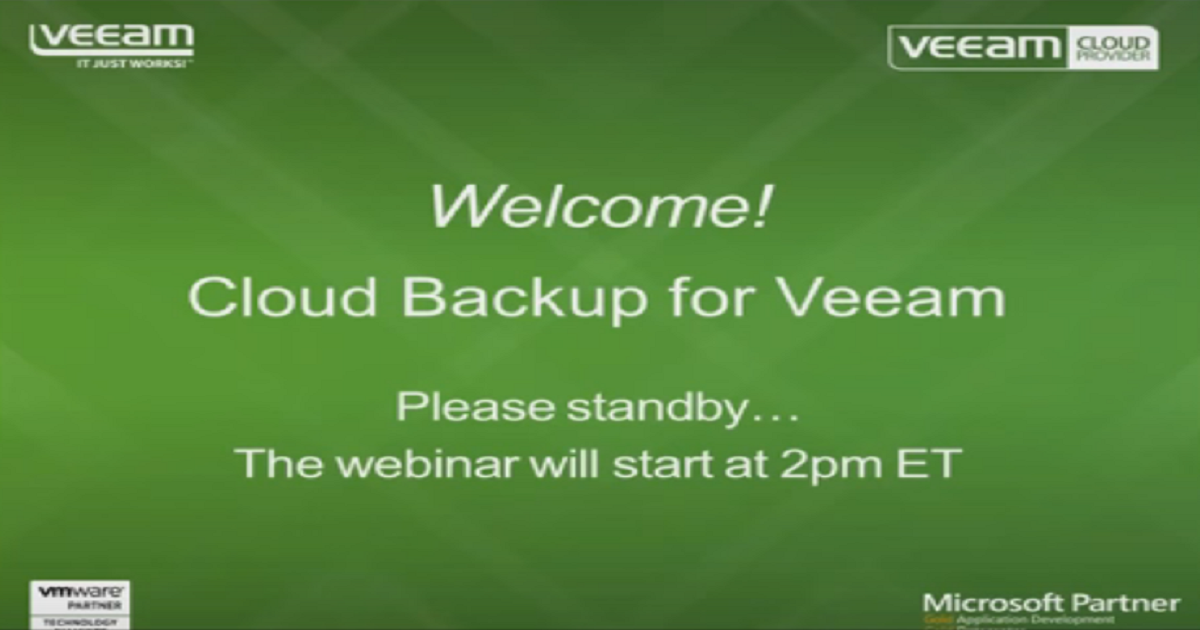 Ask the experts: Cloud Backup for Veeam