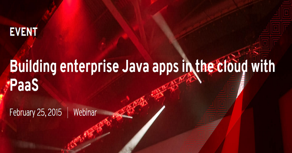 Building enterprise Java apps in the cloud with PaaS