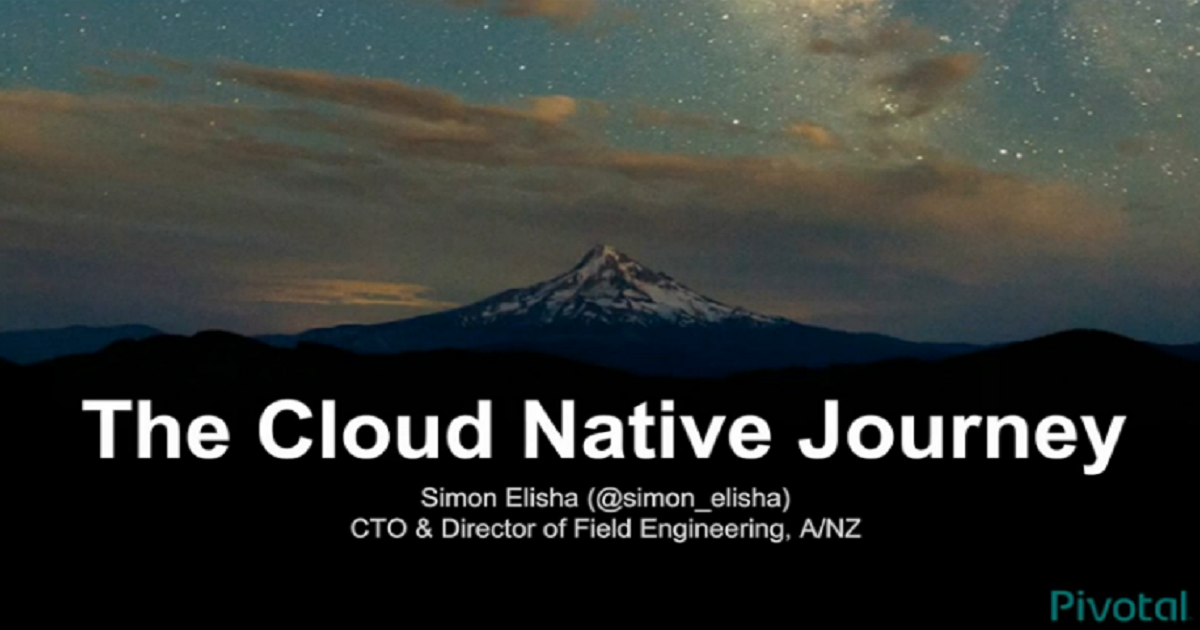 The Cloud Native Journey