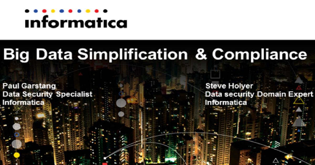 Big Data, Simplification and Compliance