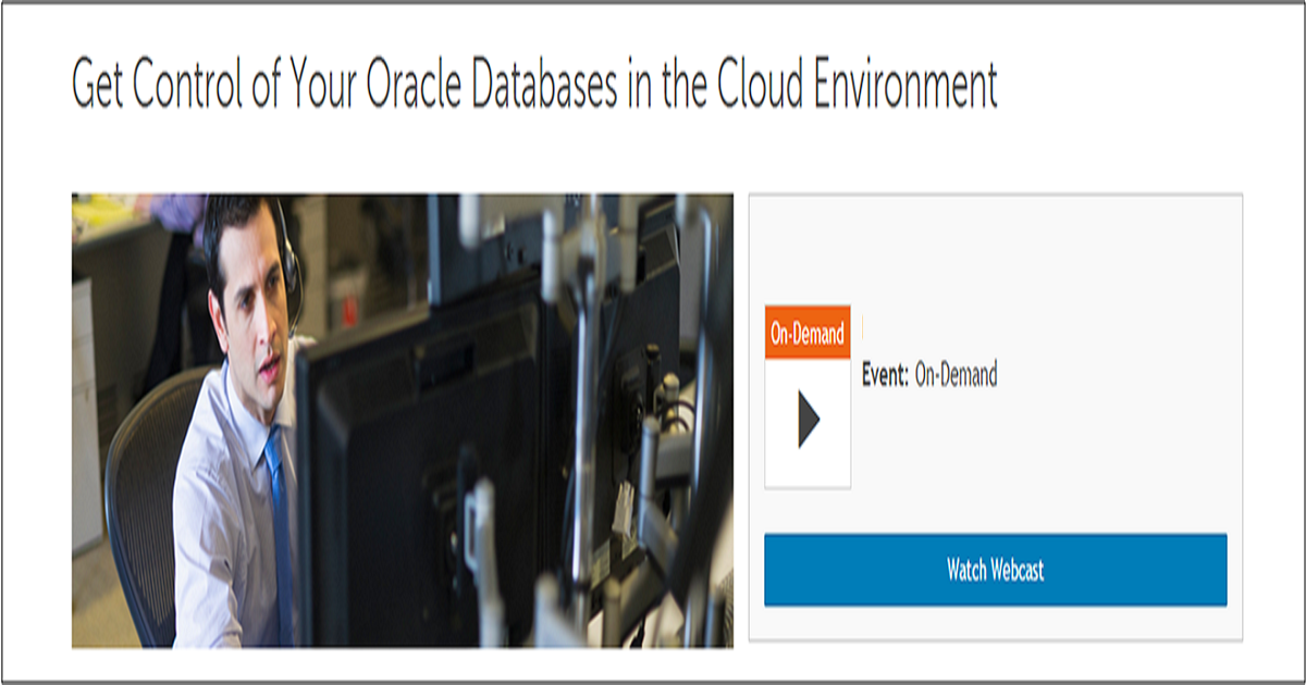 Get Control of Your Oracle Databases in the Cloud Environment