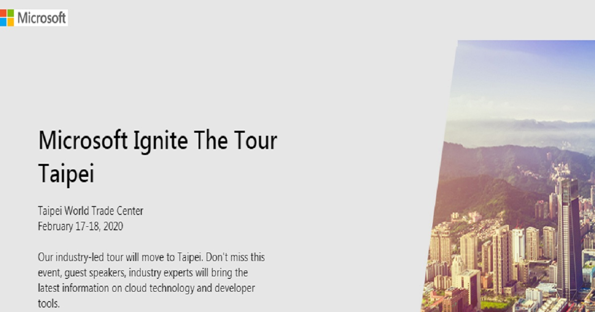 Microsoft Ignite The Tour Taipei