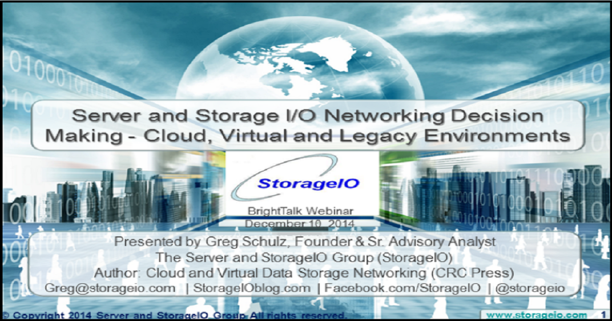Networking Decision Making for Cloud, Virtual and Legacy Environments