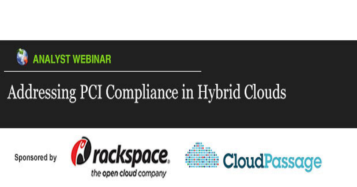 ADDRESSING PCI COMPLIANCE IN HYBRID CLOUDS