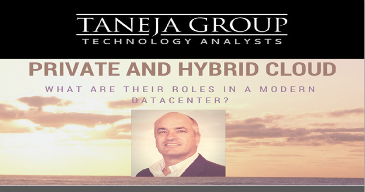 Private and Hybrid Cloud – What Are Their Roles in a Modern Datacenter?