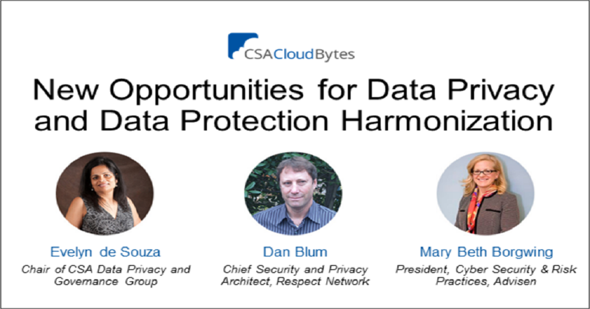 New Opportunities for Data Privacy and Data Protection Harmonization