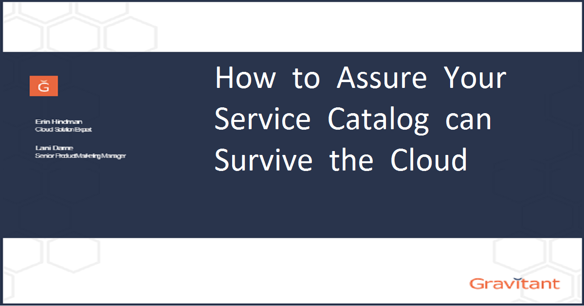 How to Assure Your Service Catalog Can Survive the Cloud