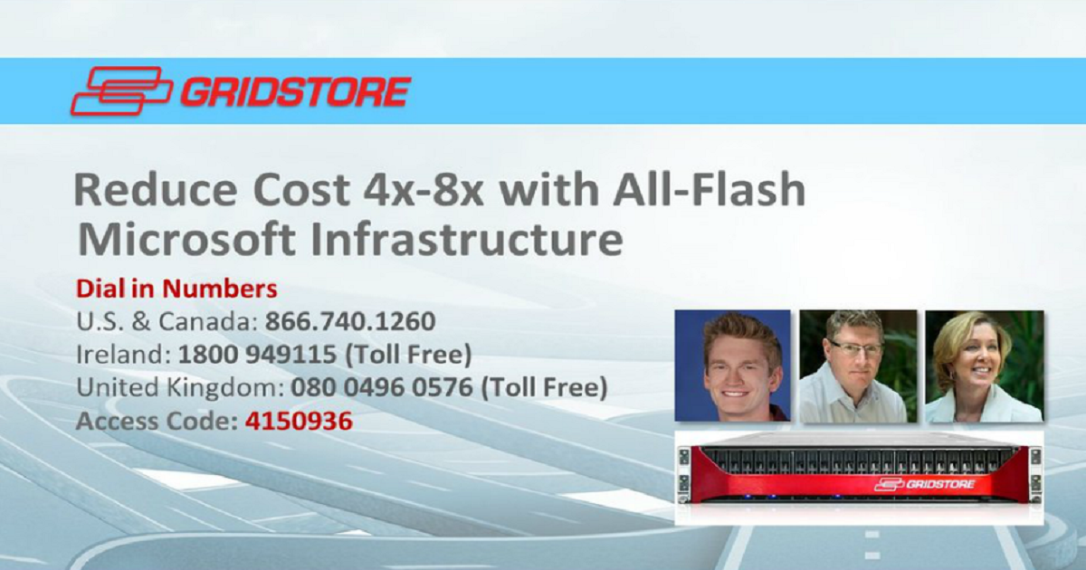 Reduce Cost by 4X-8X with All-Flash Microsoft Infrastructure