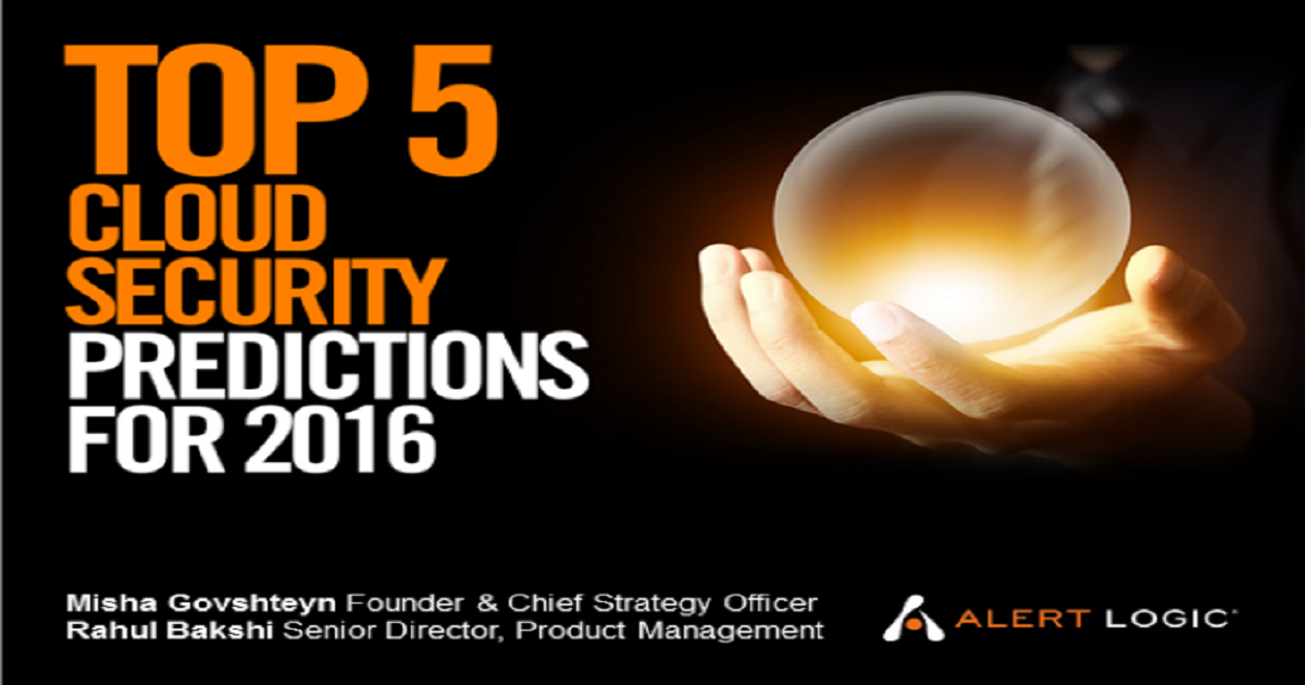 Top 5 Cloud Security Predictions for 2016