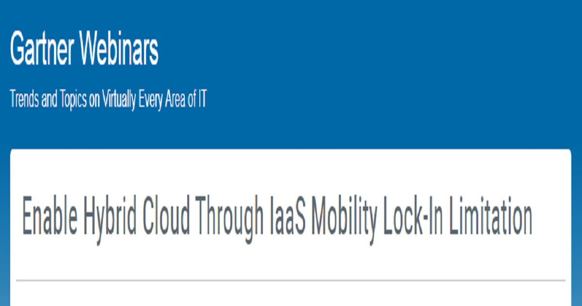 Enable Hybrid Cloud Through IaaS Mobility Lock-In Limitation