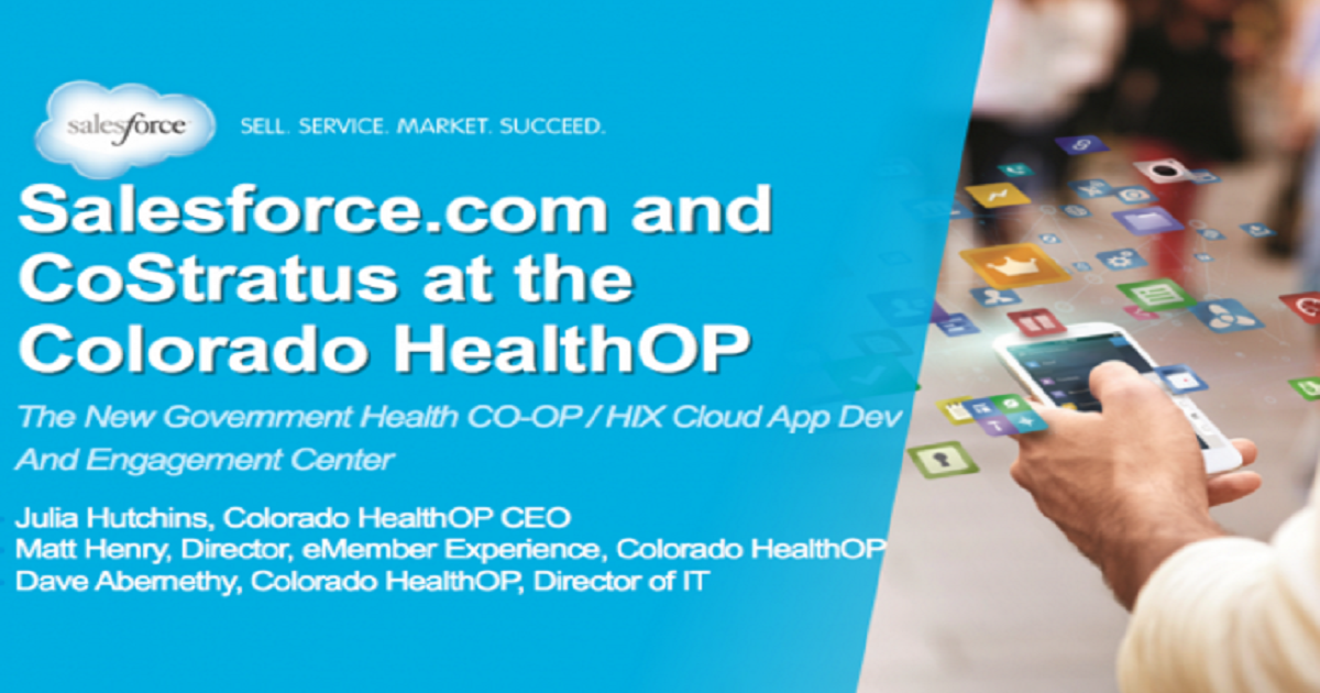 New Government Experience for Health Co-ops/HIX-Cloud App Dev & Engagement Ctrs